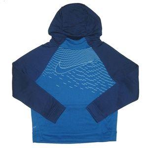 Nike Boys Dri-Fit Pullover Hoodie, Blue, Large